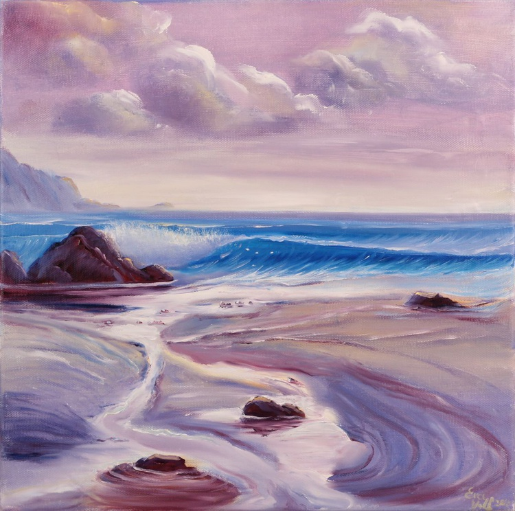 Reverie, Coastal Painting, Seascape, Beach Oil Painting on Canvas - Image 0