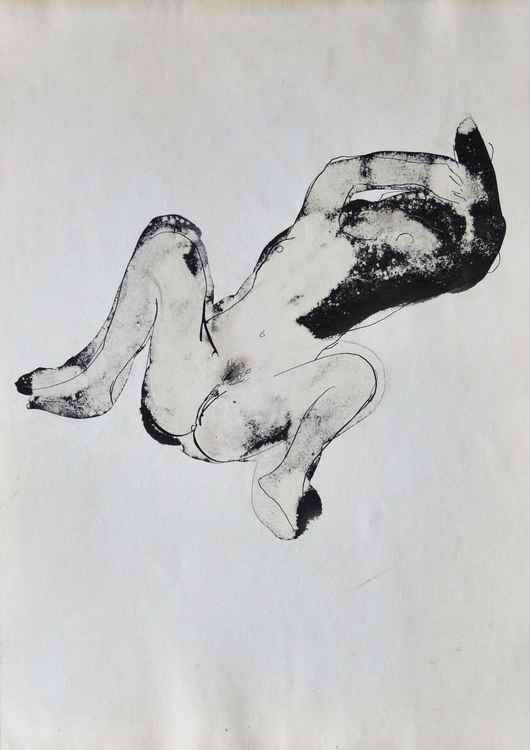Reclining Nude 4, 42x29 cm -