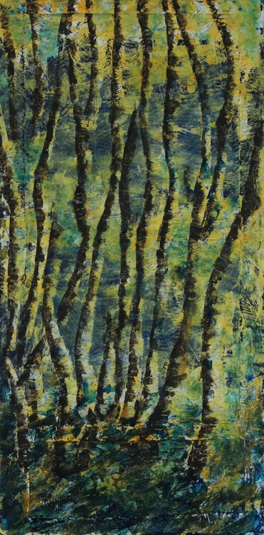 SUNLIT - 15 x 30 - Acrylic on Paper on Canvas - Image 0