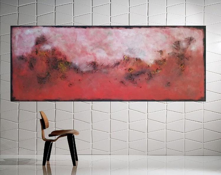 """59x 23,5""""( 150x60cm),  Milos Island Landscape,  wall design , canvas art, home painting - Image 0"""