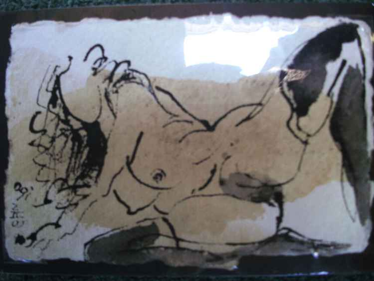 Erotic Female Drawing  5 -
