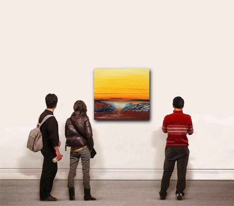 """Breakthrough"" / Acrylic Painting 32x32x1.6"" - Image 0"