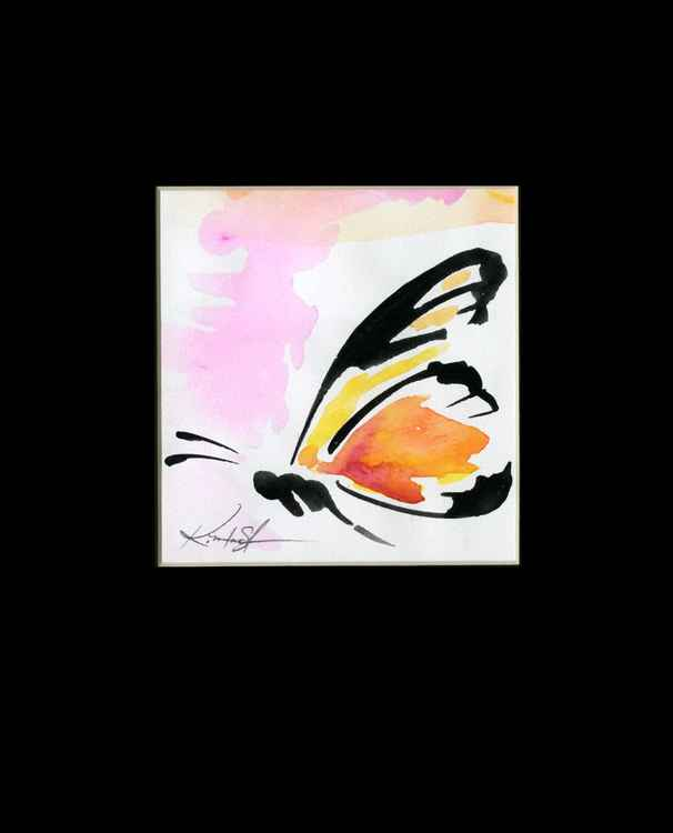 Monarch Butterfly Watercolor Painting, Abstract- Butterfly Love No. 959 -