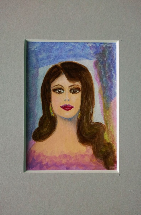 Lady Vamp / A miniature / ACEO - Image 0