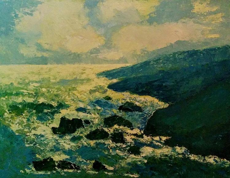 Spreading light, seascape - Image 0