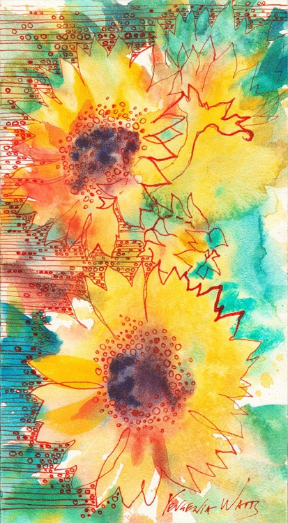 Going Solar Original Watercolor Painting - Image 0