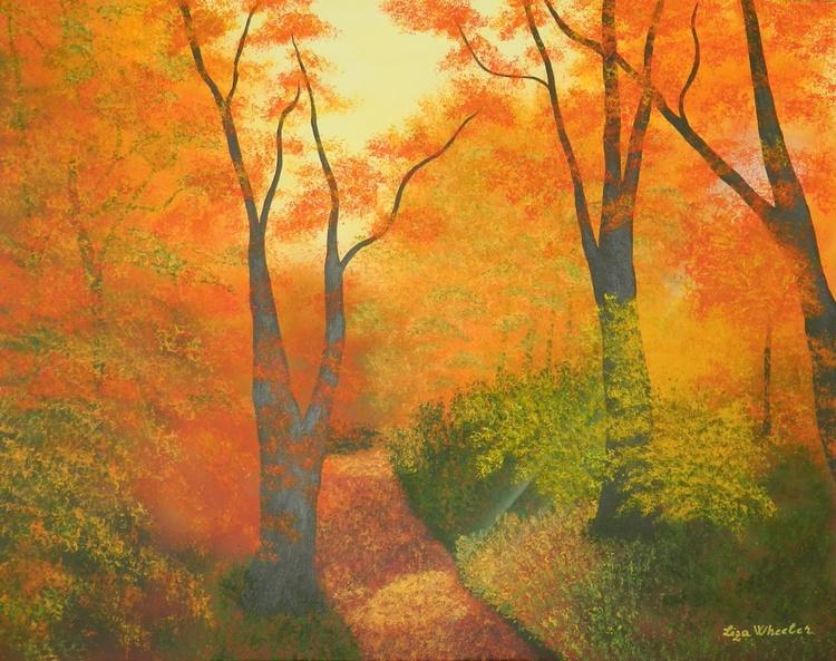 Spirit of the Forest - Original, unique landscape painting with texture - Image 0