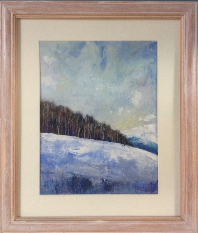 Across the Winter Dales ( framed original ) - Image 0