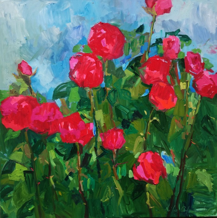 Red roses. - Image 0