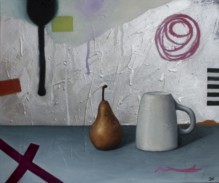 Proto Still  life #10 - Pear and tea cup - Image 0