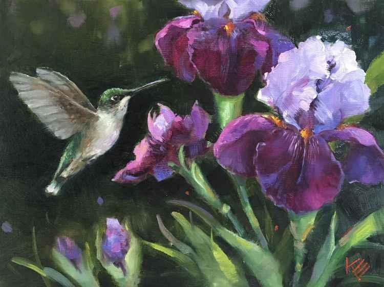 Lady & Irises