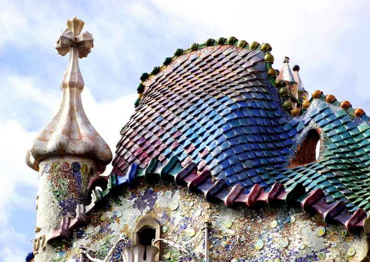 The Roof of Casa Batllo, Barcelona