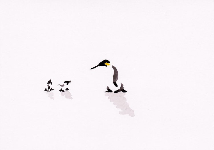Penguin and two chicks - Image 0