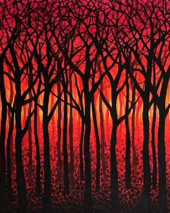 Original Painting of 'Dorset Wood' by Kirstin Wood -