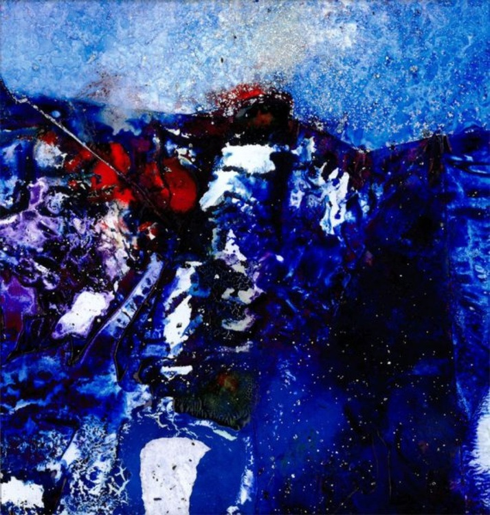 Abstract Painting, Watercolor - Mystical Encounter No. 6 - Image 0