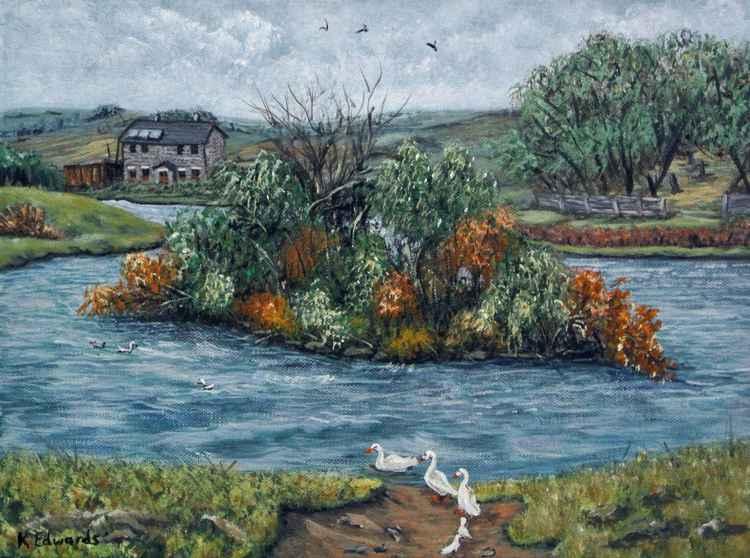 Cefn Golau Pond -