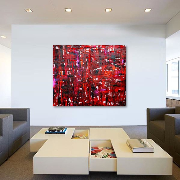 Red, 120 x 100 cm - 47.2 x 39.4 in - Image 0
