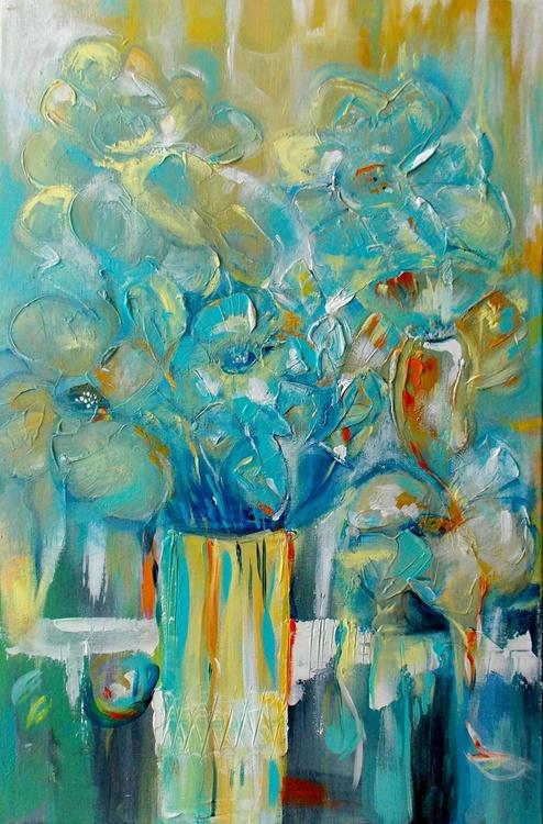 Still life in blue - 40 X 60 cm. - Image 0