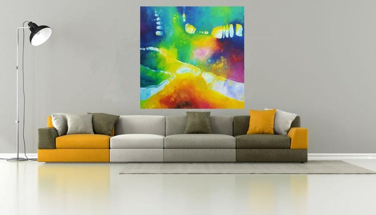 Acid jazz in September  (120x120cm, oil painting) - Image 0