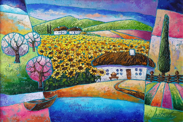 House in the flowers of the sun - Image 0