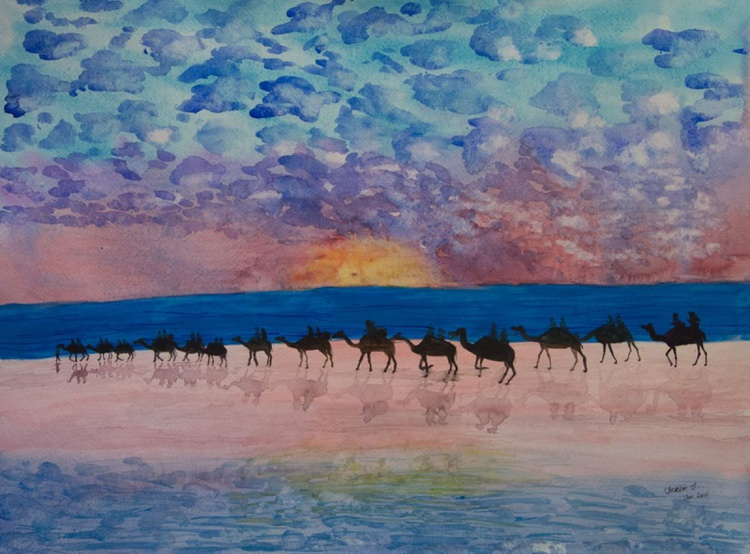 Camels on the beach - Image 0