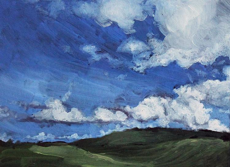 Aberdeenshire Skyscape Sketch No.6 - Image 0
