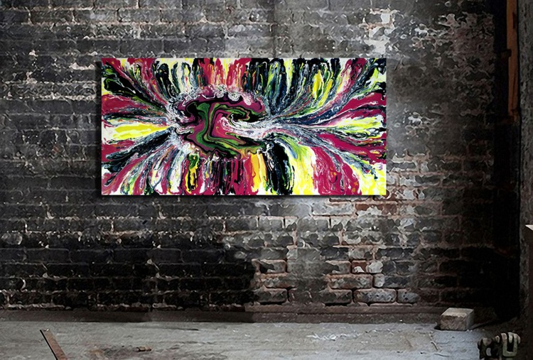 Daisy Gloss Painting 24x48 Gallery Wrap - Image 0