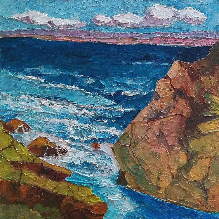"Seascape, ""Ocean Blues"" - Image 0"