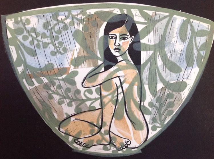Girl and Bowl - Image 0