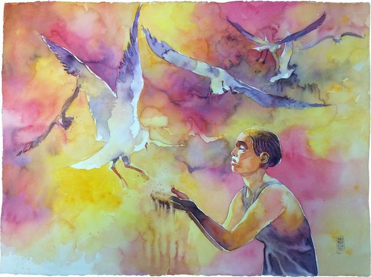 Feeding the seagulls - Image 0