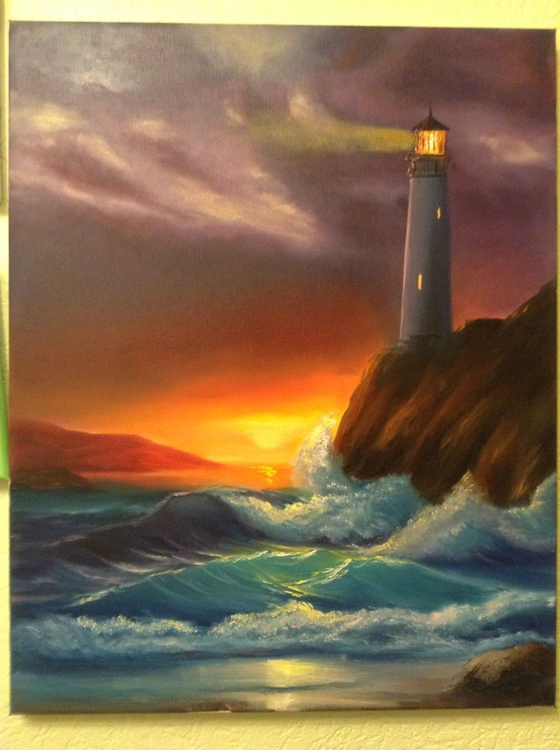 lighthouse at night - Image 0