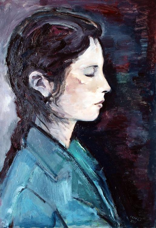 L'une (head of a woman in profile, study) - Image 0