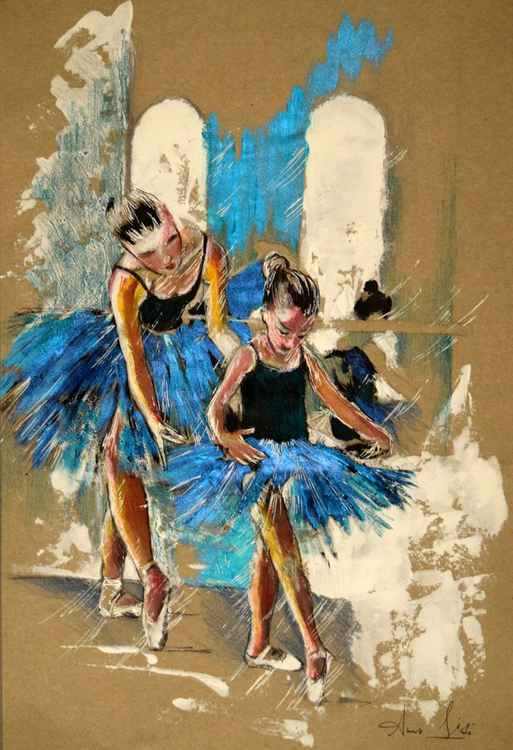 La prof de ballet / Original Art  Modern Contemporary Wall Art Home Decor by Anna Sidi -