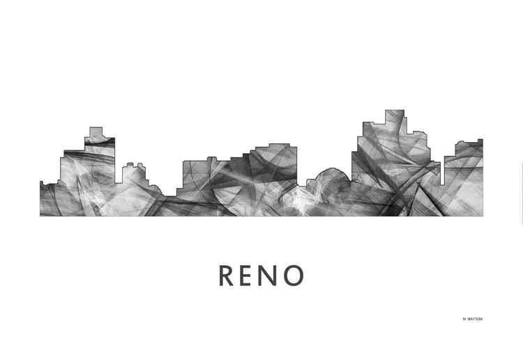 Reno Nevada Skyline WB BW -