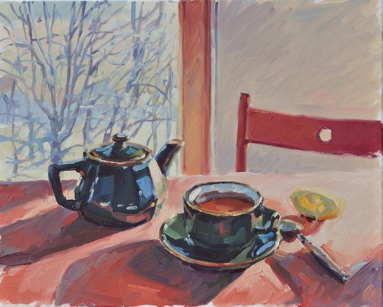 The cup of tea, winter sun - Image 0