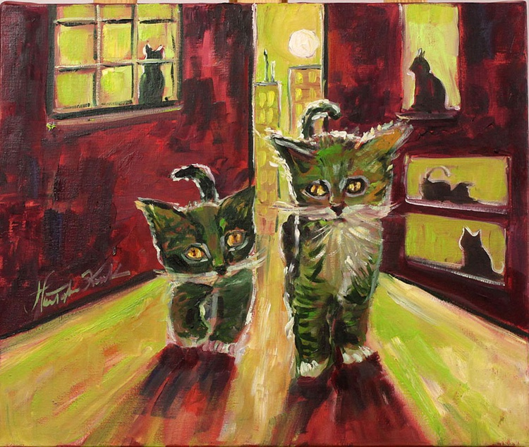 Night life of cats - Image 0
