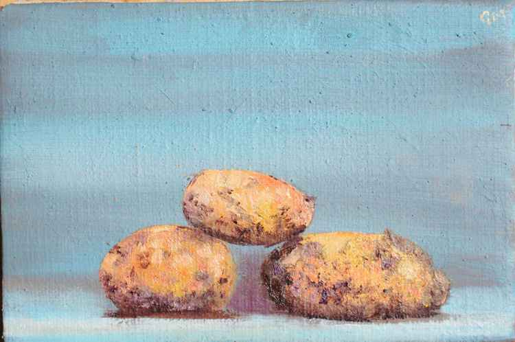 Three potatoes (#4 Postcards from Pembrokeshire) -