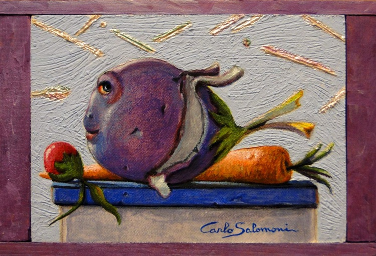 THE EGGPLANT FISH - (framed) - Image 0