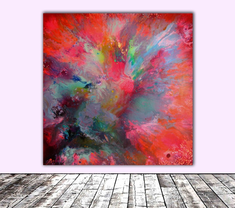 Hiding the Treasure - XL Big Painting, FREE SHIPPING - Large Painting - Ready to Hang, Hotel and Restaurant Wall Decoration - Image 0