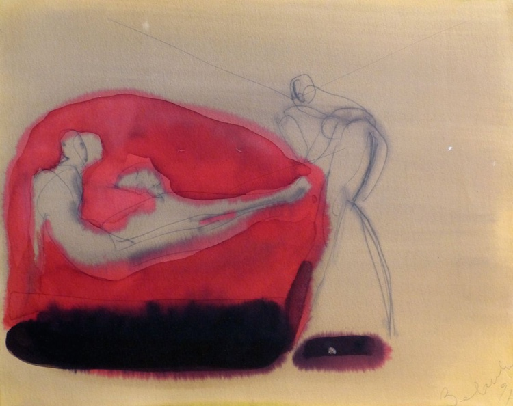 The Red Sofa, 32x40 cm - Image 0