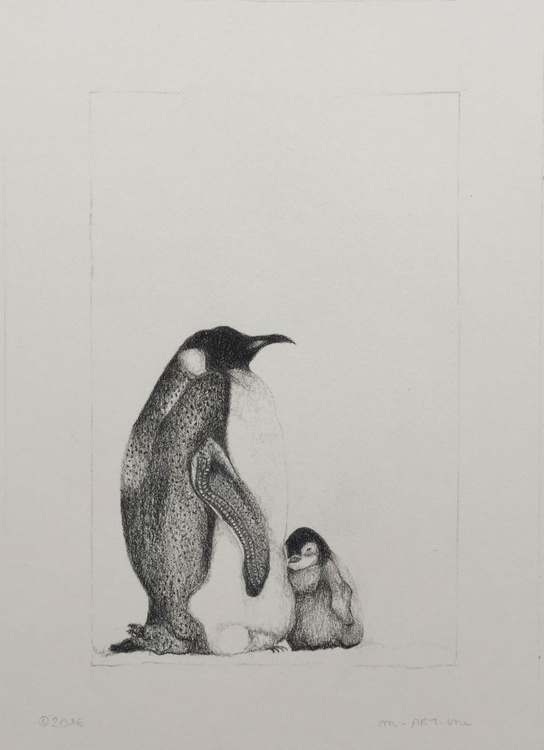 Mother and baby penguin - Image 0