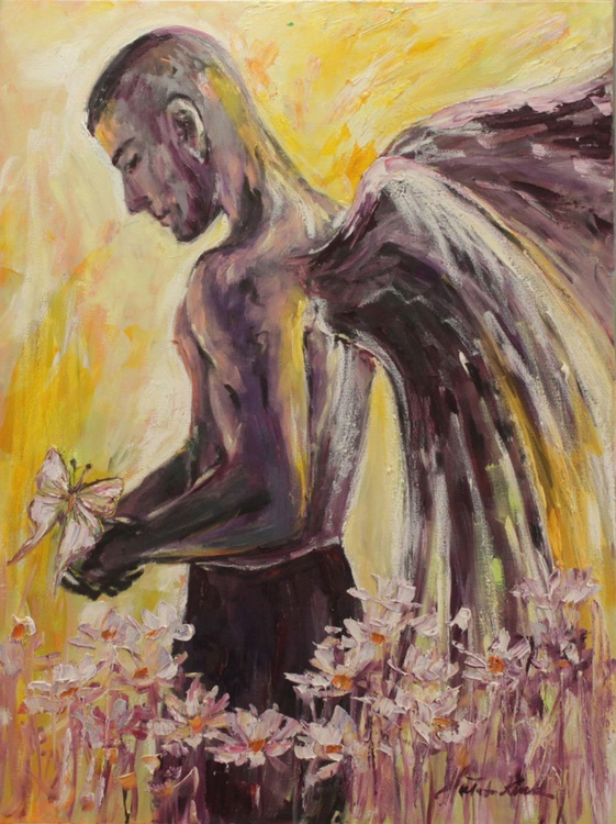 Angel with a butterfly - Image 0