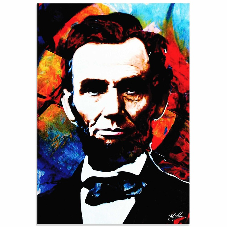 Mark Lewis 'Abraham Lincoln Knowing Lincoln' Limited Edition Pop Art Print on Metal - Image 0