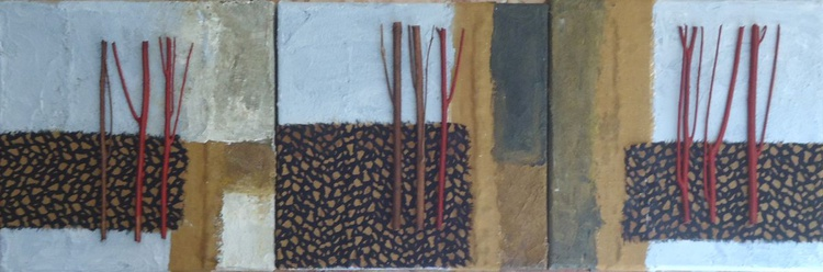 SET OF 3 SMALL PAINTINGS (4) - Image 0