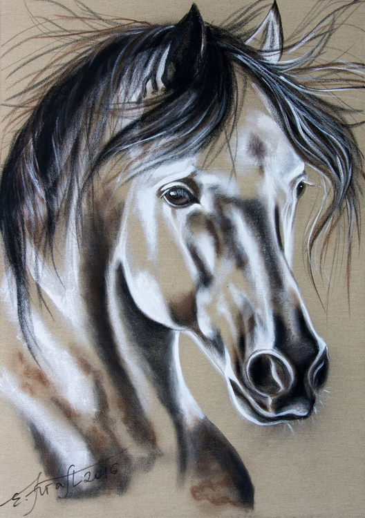 """Bella"",Original mixed media painting on canvas 65x90 x2cm - Image 0"
