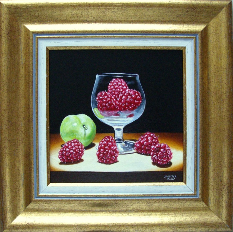 Raspberries and plum / FREE SHIPPING - Image 0