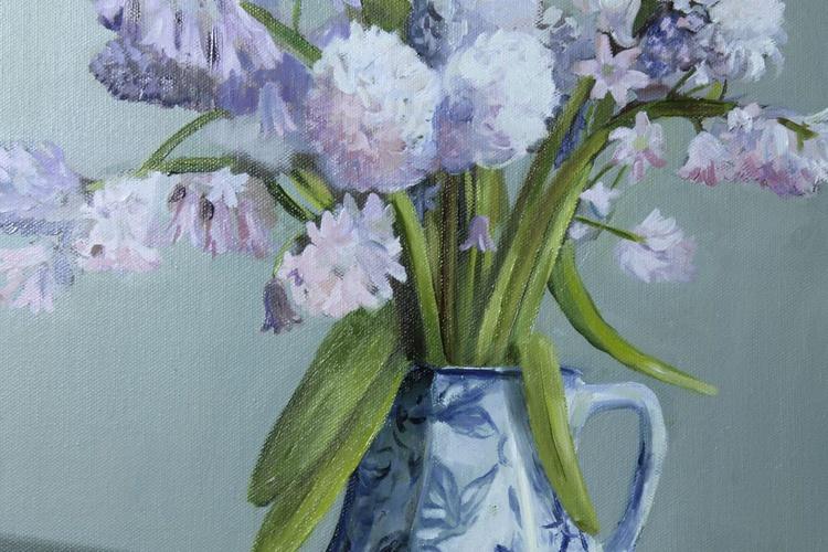 Spanish Blue Bells in a Vase - Image 0