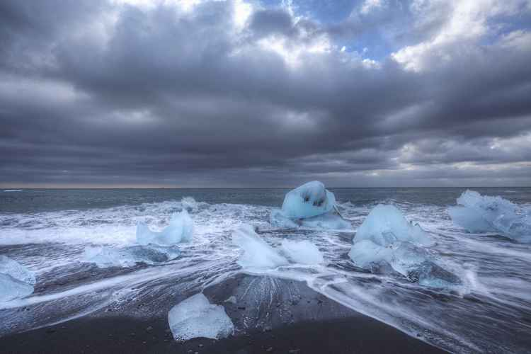 The ice beach -