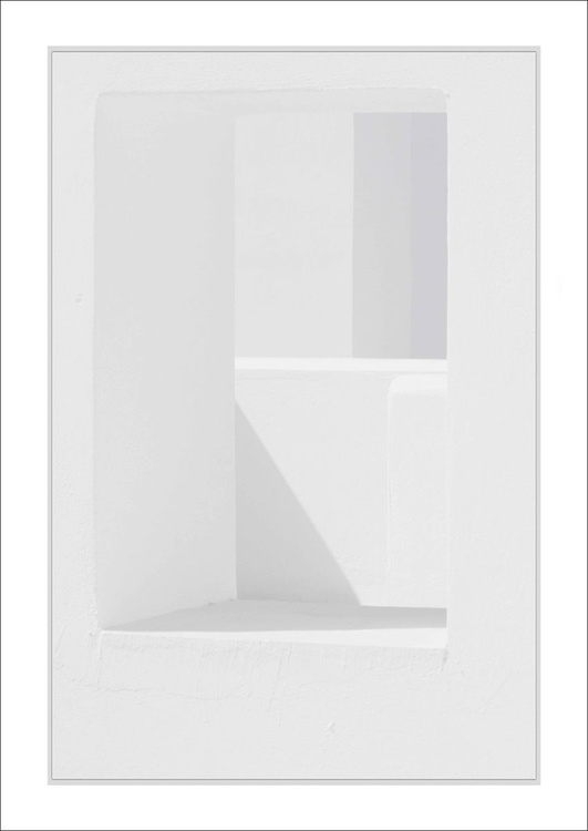 From the Greek Minimalism series: Greek Architectural Detail (White and White) # 5, Santorini, Greece - Image 0