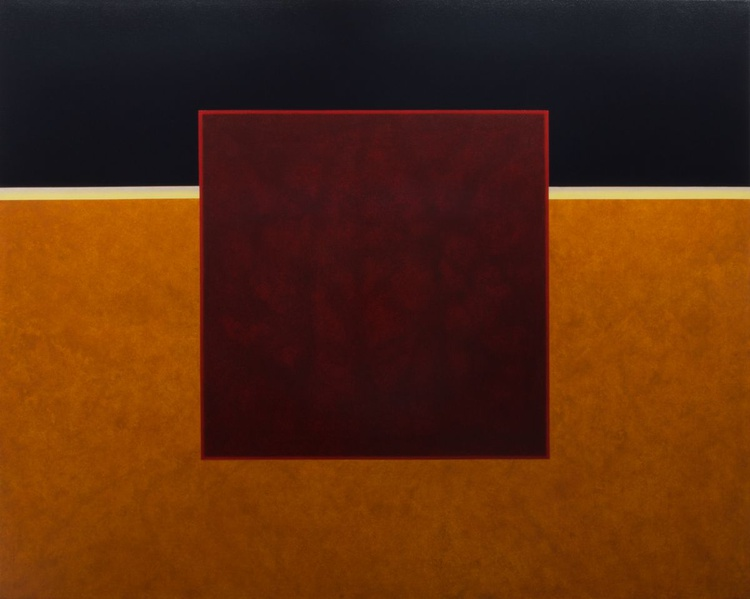 SANGUINE - Modern Color Field Painting on Linen Canvas - Image 0